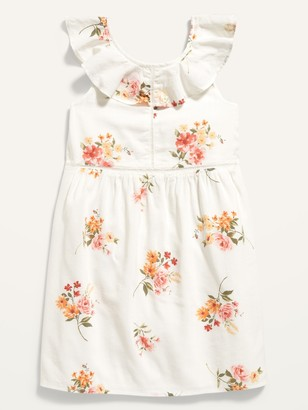 Old Navy Sleeveless Ruffle-Trim Floral Dress for Girls