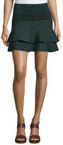 Apiece Apart Cebolla Space-Dye Technical-Knit Miniskirt