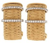Roberto Coin 18K Diamond Woven Hoop Earrings