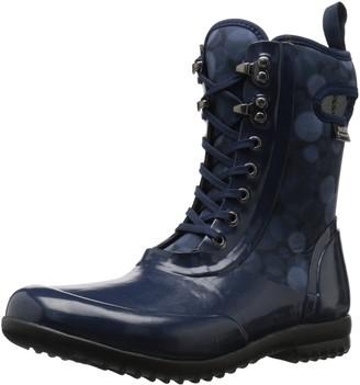 Bogs Women's Sidney Lace Rain Snow Boot Dark Blue/Multi