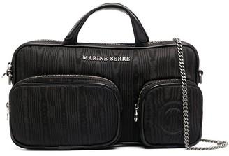 Marine Serre Rectangular Shape Logo Plaque Tote Bag