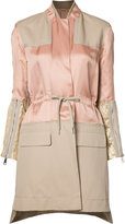No.21 panelled trench coat - women - Cotton/Linen/Flax/Viscose - 36