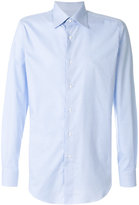 Brioni micro check shirt