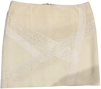 Vanessa Bruno Ecru Cotton - elasthane Skirt for Women