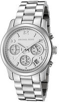 Michael Kors MK5076 Women's Runway Chrono Stainless Steel Silver-Tone Dial