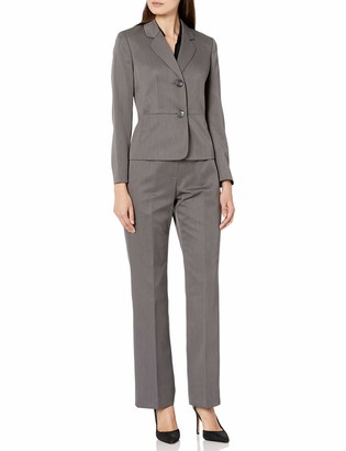 Le Suit LeSuit Women's 2 Button Notch Collar Tonal Stripe Pant Suit