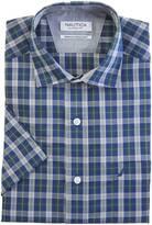 Nautica Classic Fit Wrinkle Resistant Seashore Plaid Short Sleeve Shirt