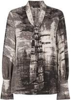Natori tie neck blouse