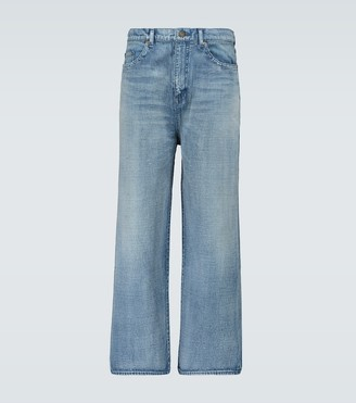Saint Laurent Cropped straight-fit jeans