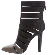 Rebecca Minkoff Pointed-Toe Cage Ankle Boots