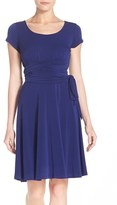 Leota Women's Scoop Neck Jersey Fit & Flare Dress