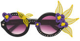 Linda Farrow floral motif round sunglasses - women - Acetate/Metal (Other) - One Size