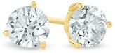 Zales 2 CT. T.W. Diamond Solitaire Stud Earrings in 18K Gold (I/SI2)