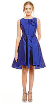 Eva Franco Brittany Bow Neck Fit-and-Flare Dress