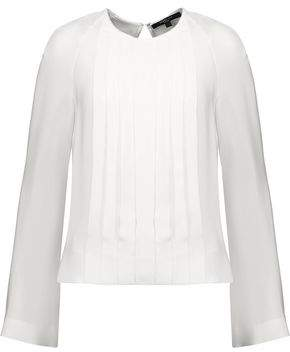 Derek Lam Pleated Silk Crepe De Chine Blouse