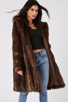 Little Mistress Forge Brown Faux-Fur Coat