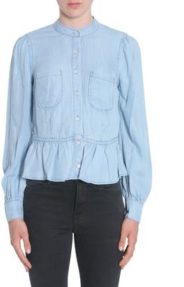 Frame Double Pocket Peplum Shirt