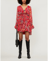 Free People Closer to Heart floral-print woven mini dress