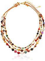 Chan Luu Triple Stone Strand Necklace