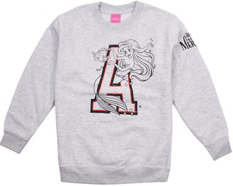 Disney The Little Mermaid Girl's Initial Sweatshirt