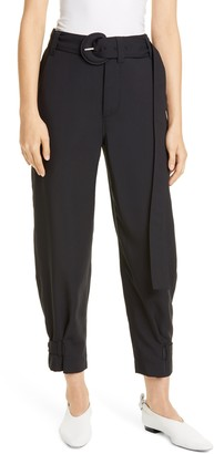 Proenza Schouler White Label Belted Pique Ankle Pants