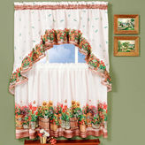 Asstd National Brand Country Garden Rod-Pocket Window Tier and Swag Valance Set