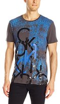 Calvin Klein Jeans Men's Layered Jeans Crew Neck T-Shirt