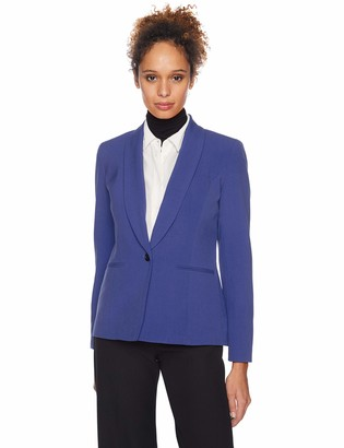 Nine West Women's 1 Button Shawl Collar Stretch Jacket