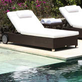 Houseology Anzio Lounger - Black Leather Macao Fabric