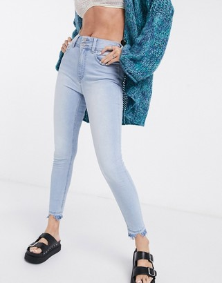 Free People Wild Child skinny jeans in light blue