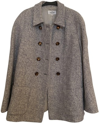Valentino Grey Wool Coat for Women Vintage