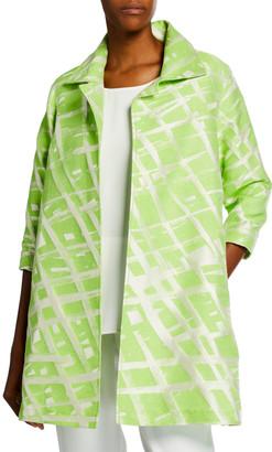 Caroline Rose Plus Size Citrus Jacquard Party Jacket
