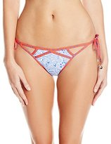 OndadeMar Women's Rosenthal Tie Side Bikini Bottom with Cut Outs