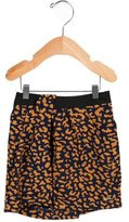 Little Marc Jacobs Girls' Leopard Print A-Line Skirt