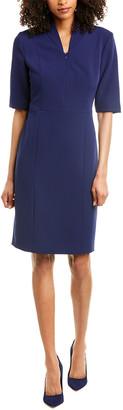 Anne Klein Zip-Front Sheath Dress
