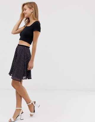 Glamorous floral mini skirt-Multi