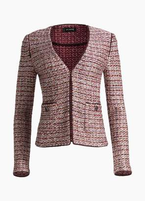 St. John Multi Textured Inlay Knit Jacket