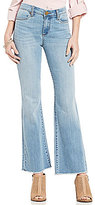 KUT from the Kloth Belle Frayed Flared Ankle Jeans