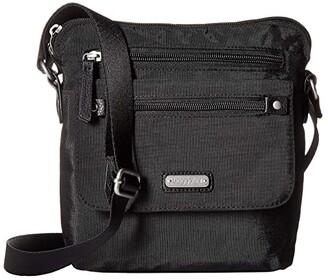 Baggallini New Classic Escape Crossbody with RFID Phone Wristlet (Black) Handbags