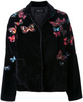 Michel Klein floral embroidery bomber jacket