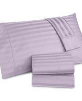 Charter Club CLOSEOUT! Damask Stripe Standard Pillowcase Pair, 500 Thread Count 100% Pima Cotton