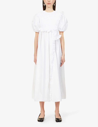 Cecilie Bahnsen Chloe short-sleeved stretch-cotton midi dress