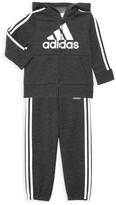 adidas Baby Boy's 2-Piece Zip-Front Fleece Jacket & Joggers Set