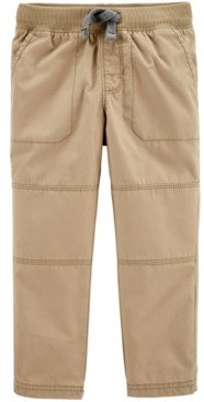 Carter's Toddler Boys Reinforced-Knee Pull-On Cotton Pants