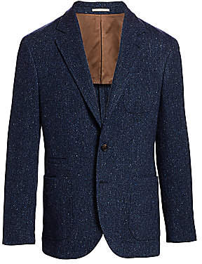 Brunello Cucinelli Men's Wool & Cashmere Chevron Sportcoat