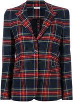 P.A.R.O.S.H. tartan classic blazer - women - Cotton/Polyester/Spandex/Elastane/Virgin Wool - XS