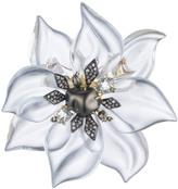 Alexis Bittar Crystal Encrusted Starburst Pearl Pin