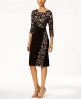 R & M Richards Petite Lace Wrap Sheath Dress