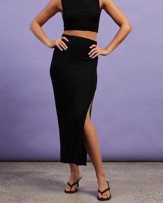 Dazie - Women's Black Midi Skirts - Take Me Away Midi Skirt - Size 8 at The Iconic