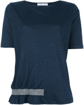 Fabiana Filippi bottom stripe T-shirt - women - Silk/Linen/Flax/Polyamide/Spandex/Elastane - 40